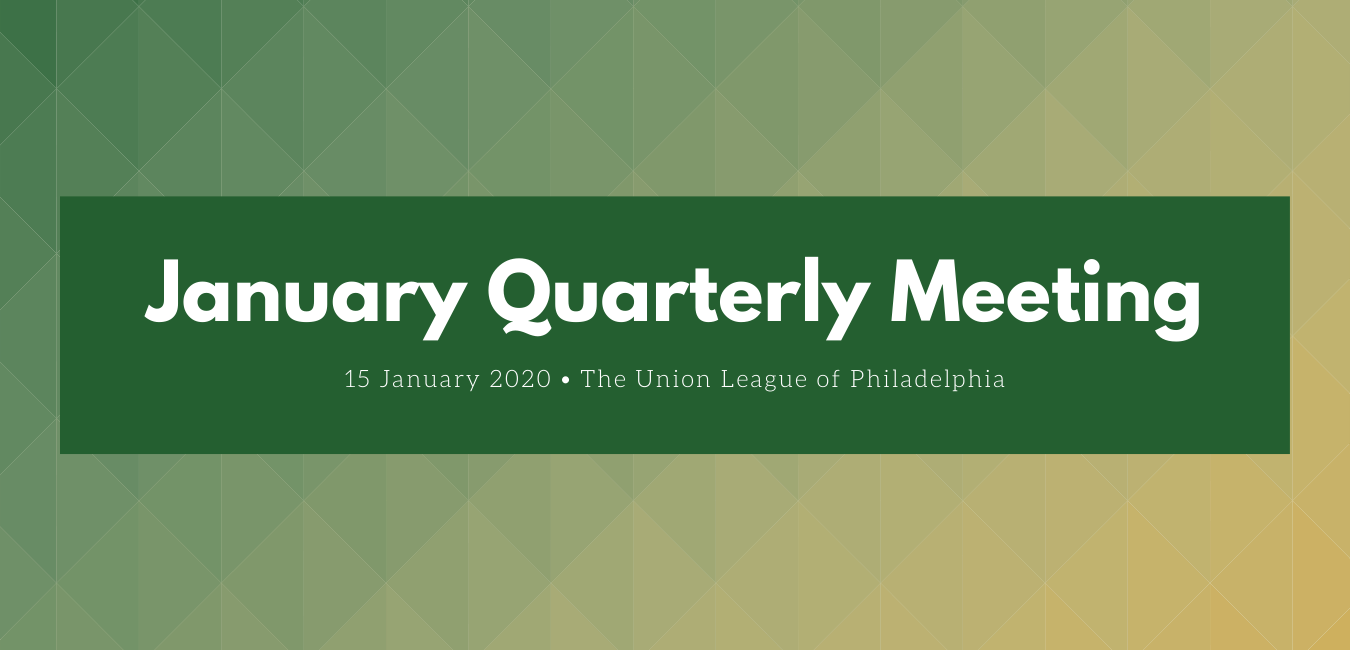 January 2020 – Quarterly Meeting