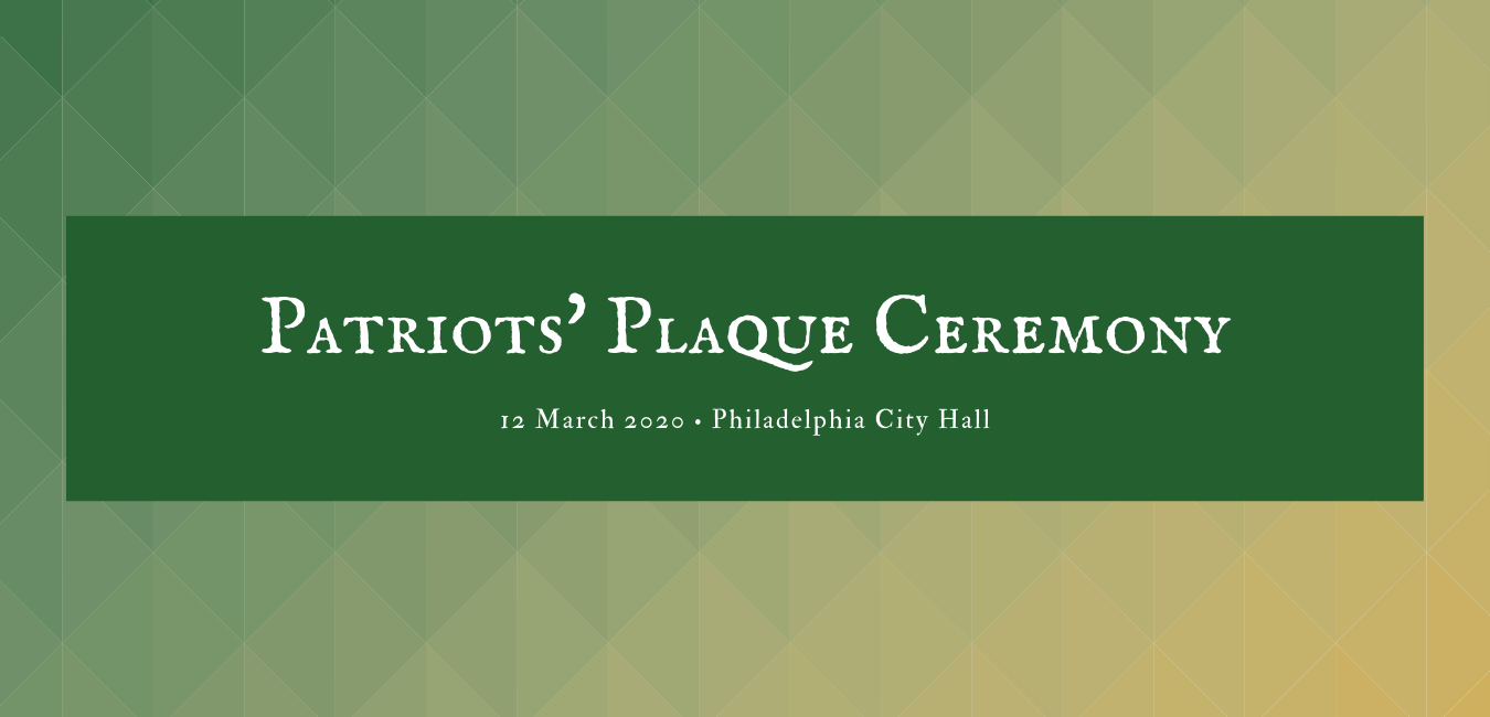 Cancelled: Patriots' Plaque Ceremony