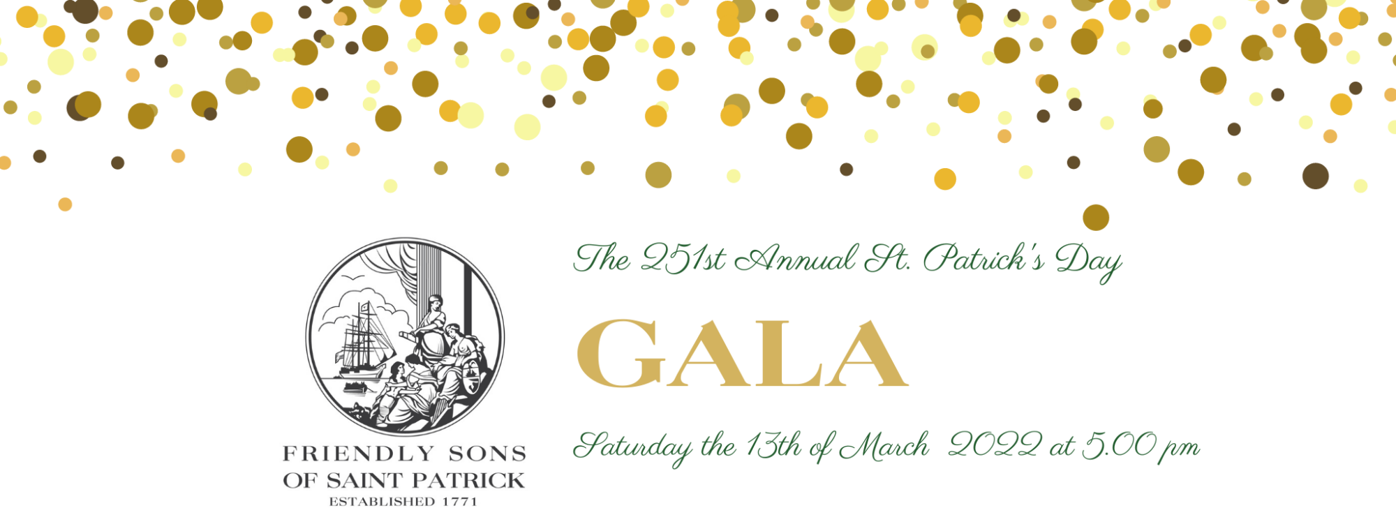 251st Annual St. Patrick's Day Gala